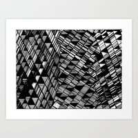Moving Panes Black & White Art Print