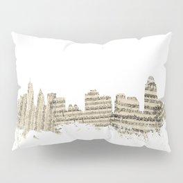 Cincinnati Ohio Skyline Sheet Music Cityscape Pillow Sham