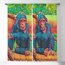 AnimalColor_Chimpanzee_001_by_JAMColors Blackout Curtain