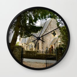 Country Church Wall Clock