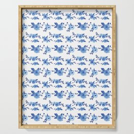 CB x SK BLUE FLORAL Serving Tray