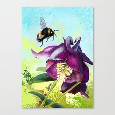 Bee flying 14 Canvas Print