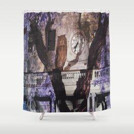 Owls in the Clocktower Shower Curtain