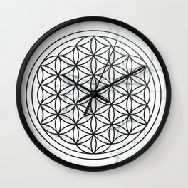 White Marble Flower of Life + Donation to CA Wildfire Relief Wall Clock