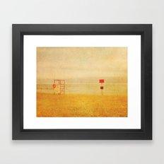 No Lifeguard On Duty Framed Art Print