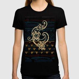 Golden Tribal Honu's T-shirt