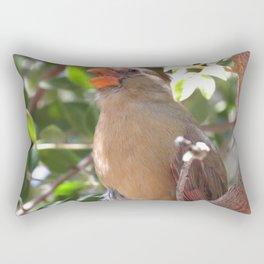 Female Cardinal Rectangular Pillow