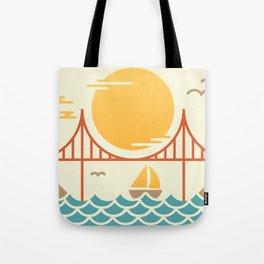 San Francisco Golden Gate Bridge Illustration Tote Bag