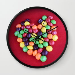 Skittles Heart Wall Clock