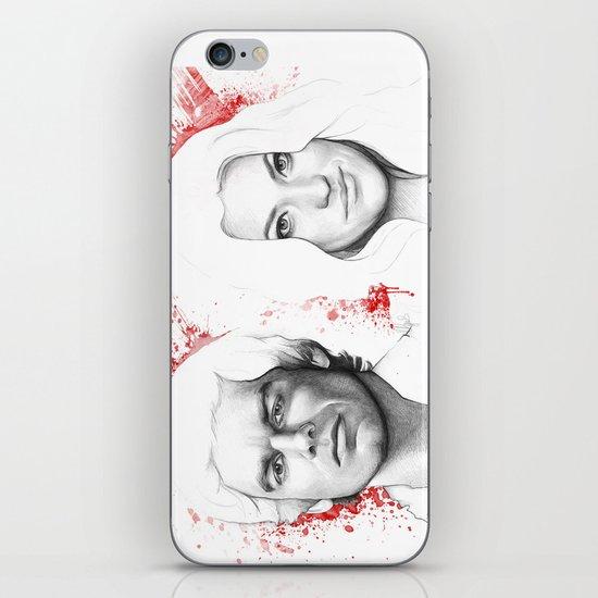 Dexter and Debra iPhone & iPod Skin