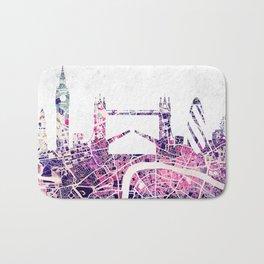 LONDON Skyline + map Bath Mat
