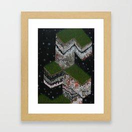 Lace Agate rok cube. Framed Art Print
