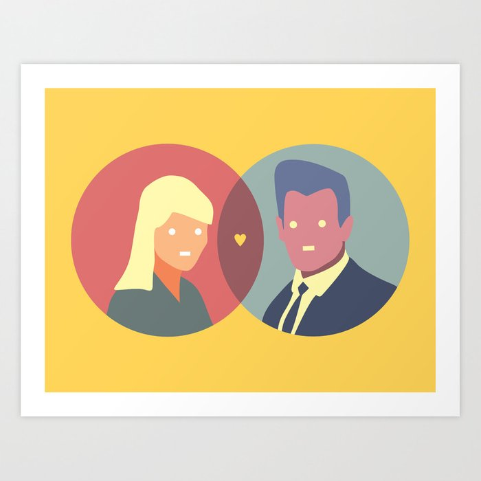 Workplace Lovers Art Print