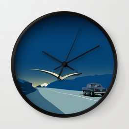 """Soviet Modernism: """"Seagull"""" road mark at the northern entry of Yerevan Wall Clock"""