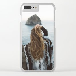 Windswept at Cape Kiwanda Clear iPhone Case
