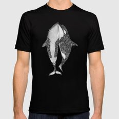 Killer Whales? Black Mens Fitted Tee X-LARGE