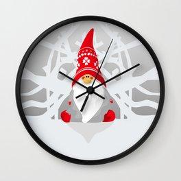 winter santa christmas Wall Clock