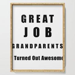 Great Job Grandparents Funny Serving Tray