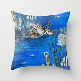 Under the Sea -digitally remastered  Throw Pillow
