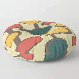 Mid Century Modern Baubles (gold) Floor Pillow