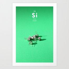 Silicon Art Print