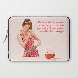 """""""Make Up Your Mind"""" - The Playful Pinup - Baking Housewife Pinup by Maxwell H. Johnson Laptop Sleeve"""