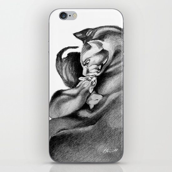 Mother Cat iPhone & iPod Skin