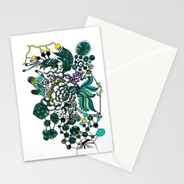 Abstract Thought in Mind Drawing Painting Illustration Art (P12 022) Stationery Cards