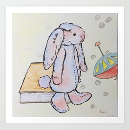 Ronald Rabbit is Always in a Daze Art Print