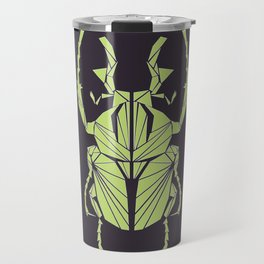 Envious Beetle - Geometric Insect Design Travel Mug