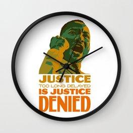 Justice denied Wall Clock