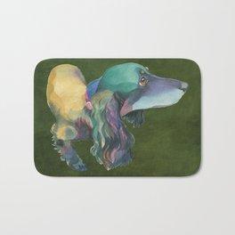 Longhaired Dachshund Bath Mat
