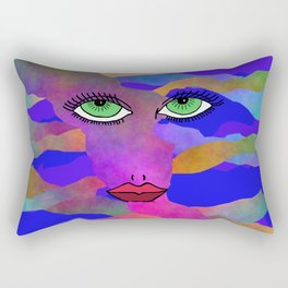 Eyes and Lips Colorful Rectangular Pillow