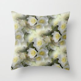 flowers -12- seamless pattern Throw Pillow