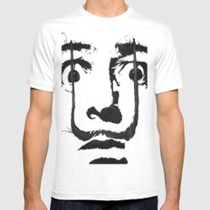 I am drugs ( Salvador Dali ) MEDIUM White Mens Fitted Tee
