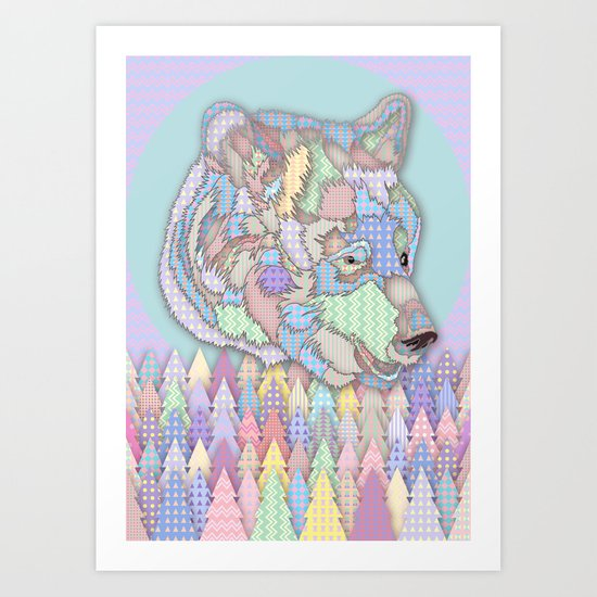Bear Forest Art Print