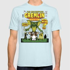 The Mischievous Gremlin Light Blue Mens Fitted Tee MEDIUM