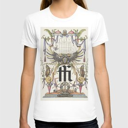 Guide for Constructing the Ligature ffi from Mira Calligraphiae Monumenta or The Model Book of Calli T-shirt