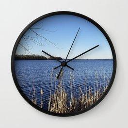 """Incredi-blue"" lake view - Lake Mendota, Madison, WI Wall Clock"