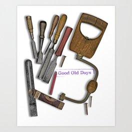 woodworking shop Art Print