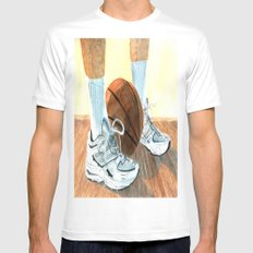 Basketball Shoes White MEDIUM Mens Fitted Tee