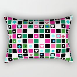 Colorful cubes . Rectangular Pillow