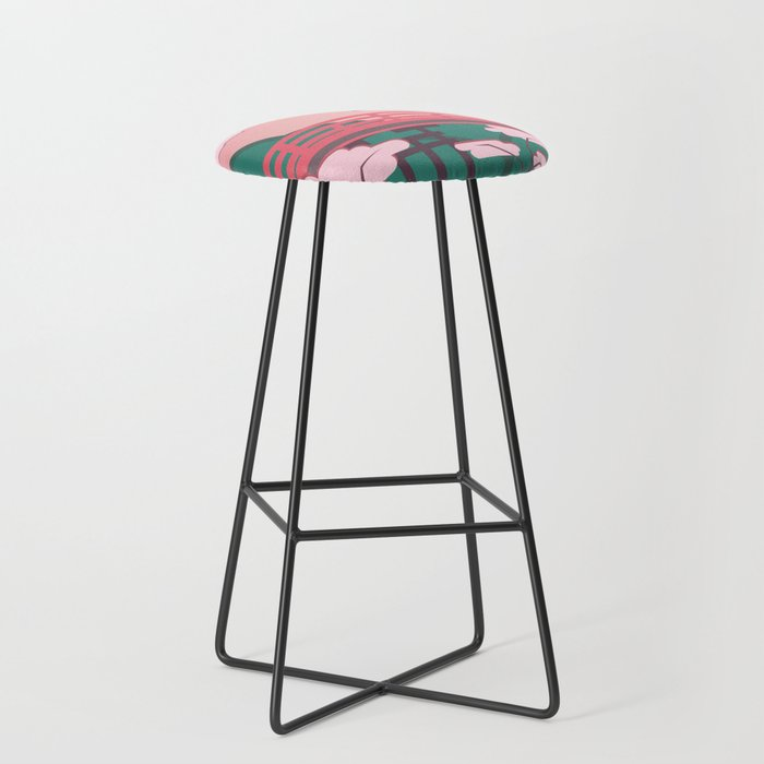 Japanese Bridge In Bright Colors Bar Stool By Camertone Society6