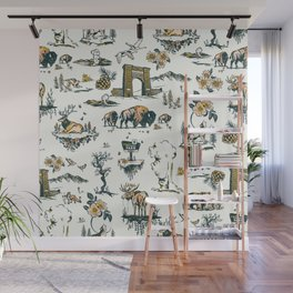 Yellowstone National Park Travel Pattern Design Wall Mural