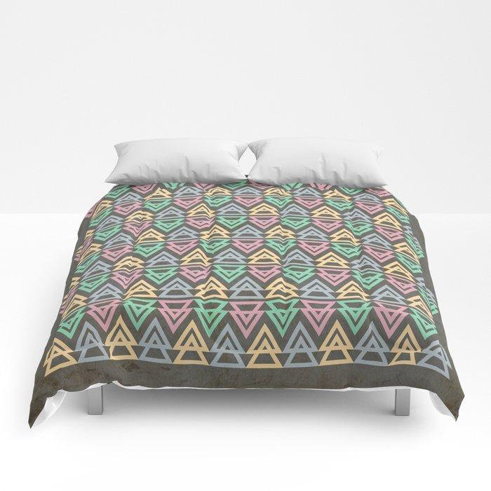 Triangulate 3 / Neon Midnight Comforters