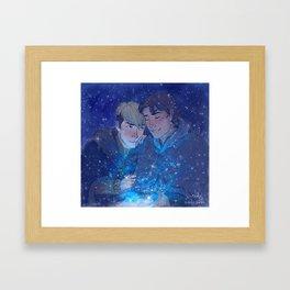 Snow Like Falling Stars Framed Art Print