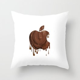 Melted Apple Chocolate (2) Throw Pillow