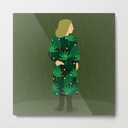 Waiting for spring rain Metal Print