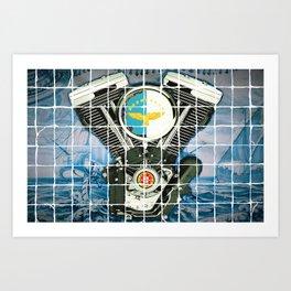 Traditional Portuguese Tile Biker Style Art Print