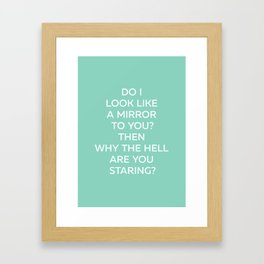 Why The Hell - Posters With Attitude Framed Art Print